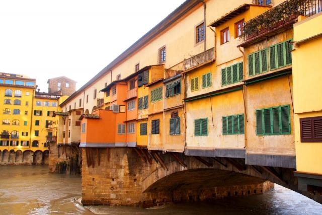 フィレンツェのポンテヴェキオ橋の様子