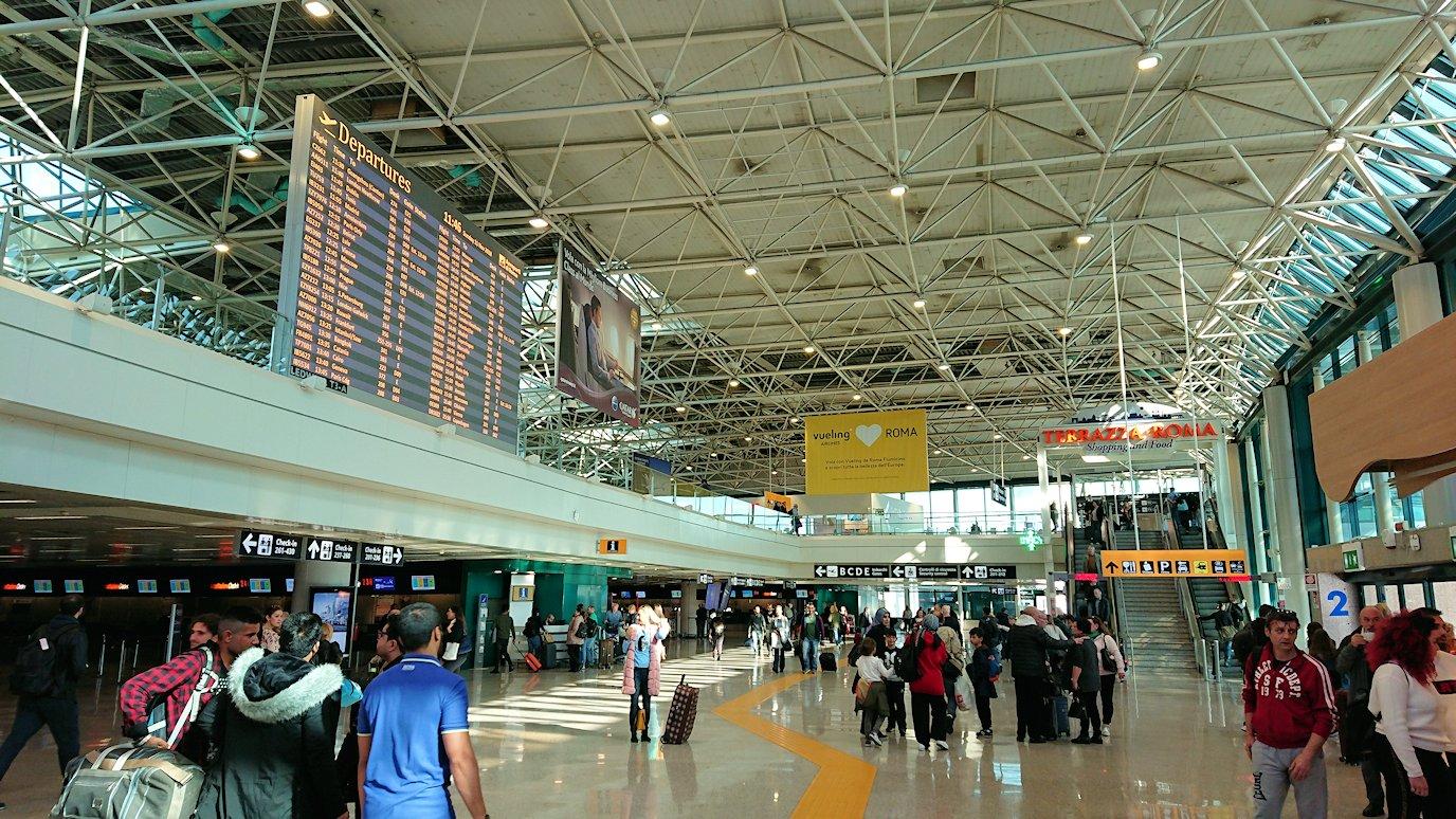 ローマの空港内部の様子
