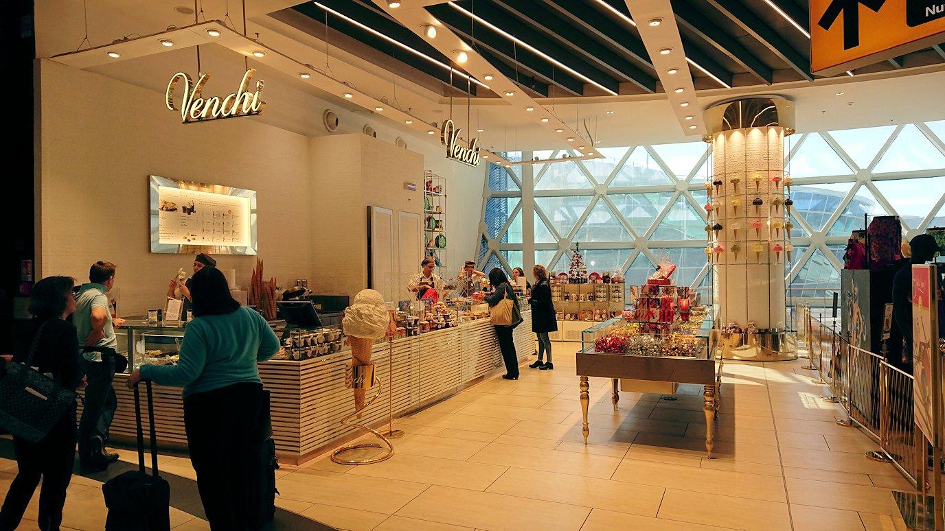 ローマ空港内のチョコレート屋