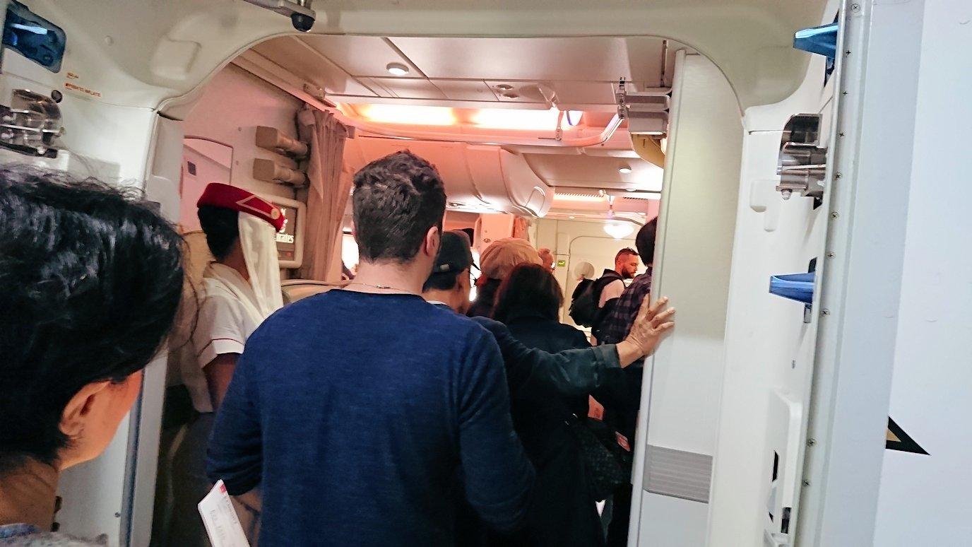 帰りの飛行機に搭乗3