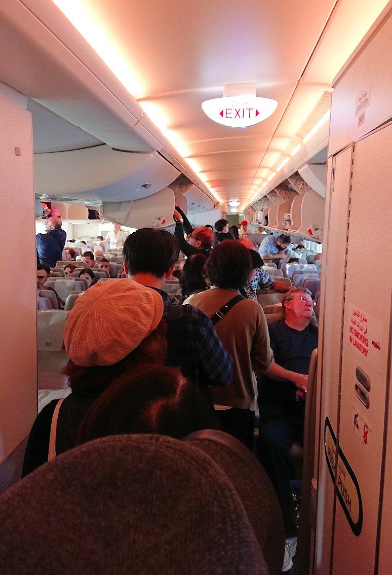 帰りの飛行機に搭乗4