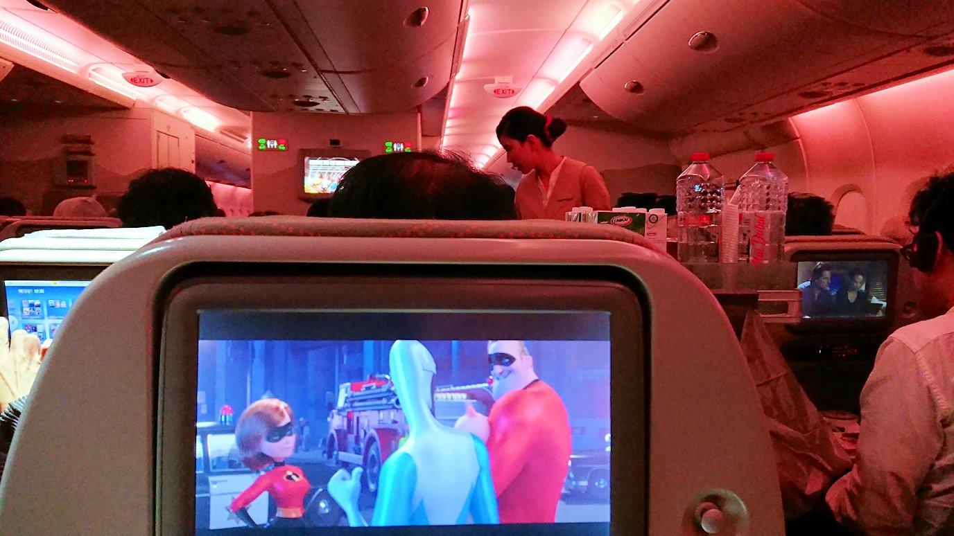 日本に帰るエミレーツ航空のA380機内の様子3