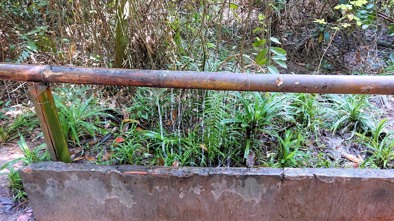 クチトンネルにある手洗い場
