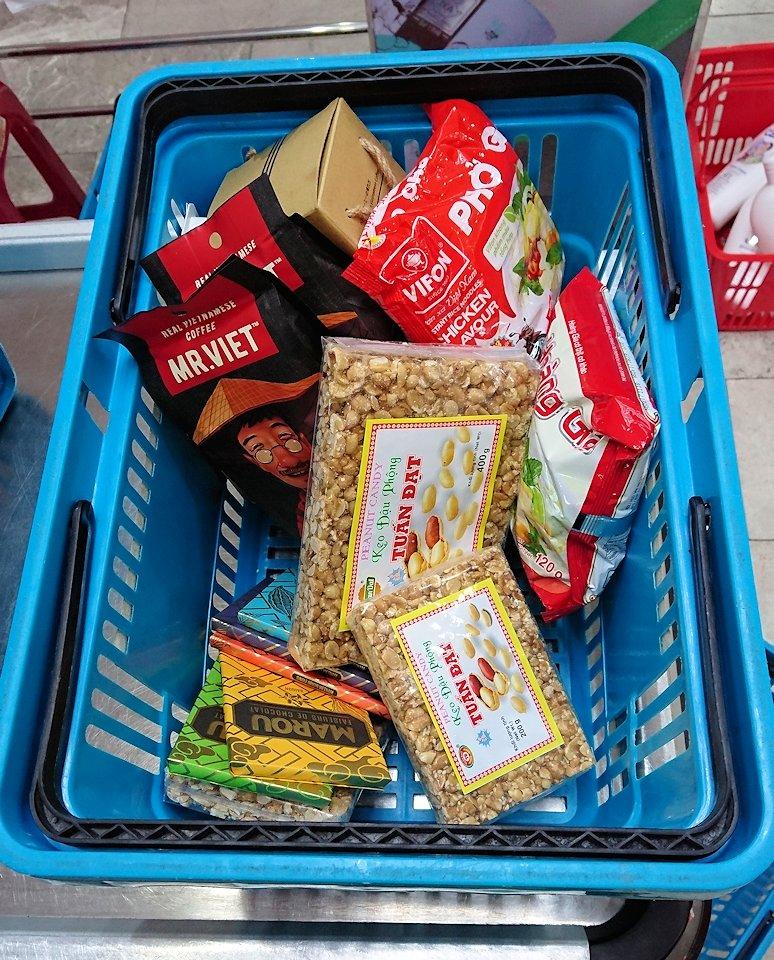 ドンコイ通りにあるショッピングセンターのラッキープラザ3階のスーパーで購入した物