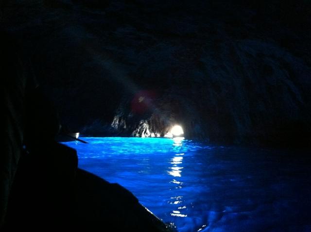 青の洞窟の内部の様子