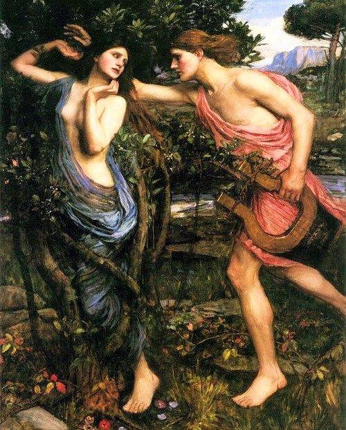 アポロンとダフネの神話の絵