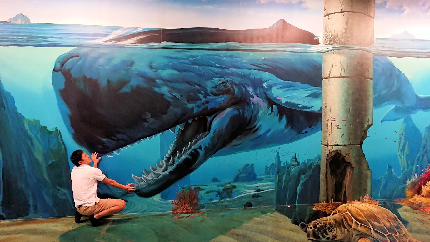 トリックアートミュージアム「アーティナス」で遊ぶ男たち3