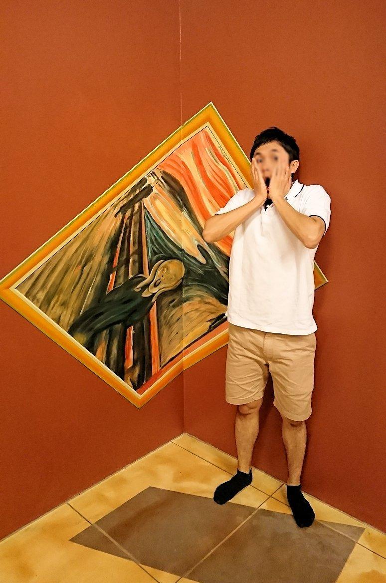 トリックアートミュージアム「アーティナス」で暴れる2人組4