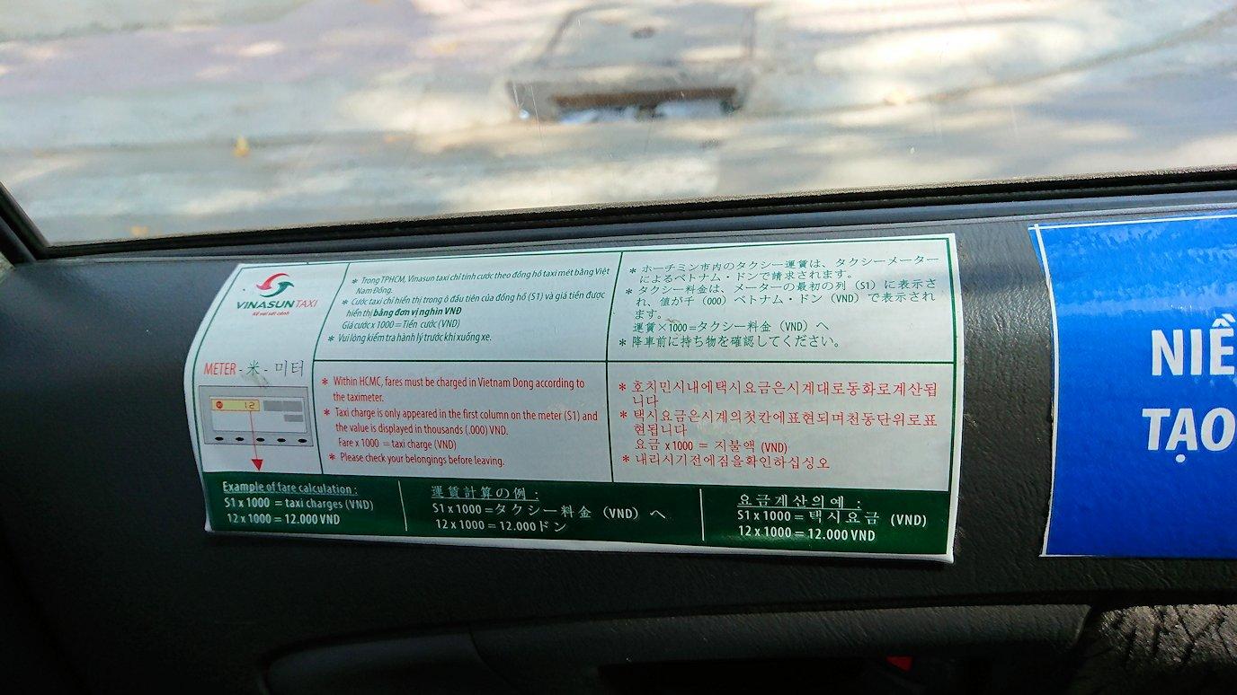 サイゴンスカイデッキにタクシーで向かう道中2