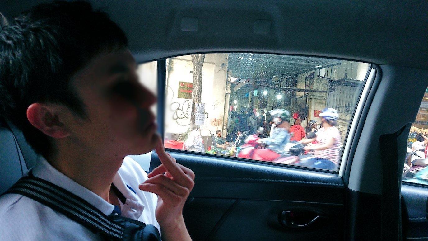 ベトナム最終日もクイーンビーにタクシーで向かう