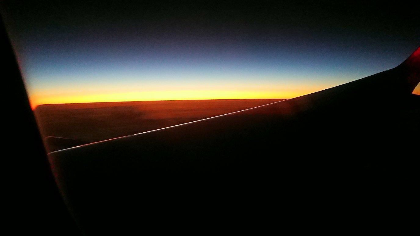 タンソンニャット国際空港から帰るベトジェットエアの機内の景色