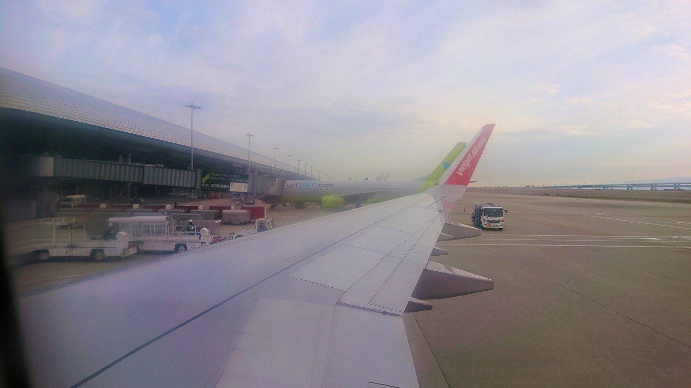 タンソンニャット国際空港から帰るベトジェットエアの機内の景色6