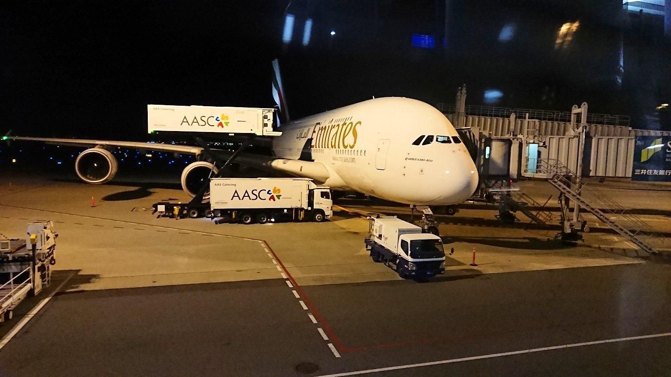 関西国際空港で今回乗る飛行機にご対面
