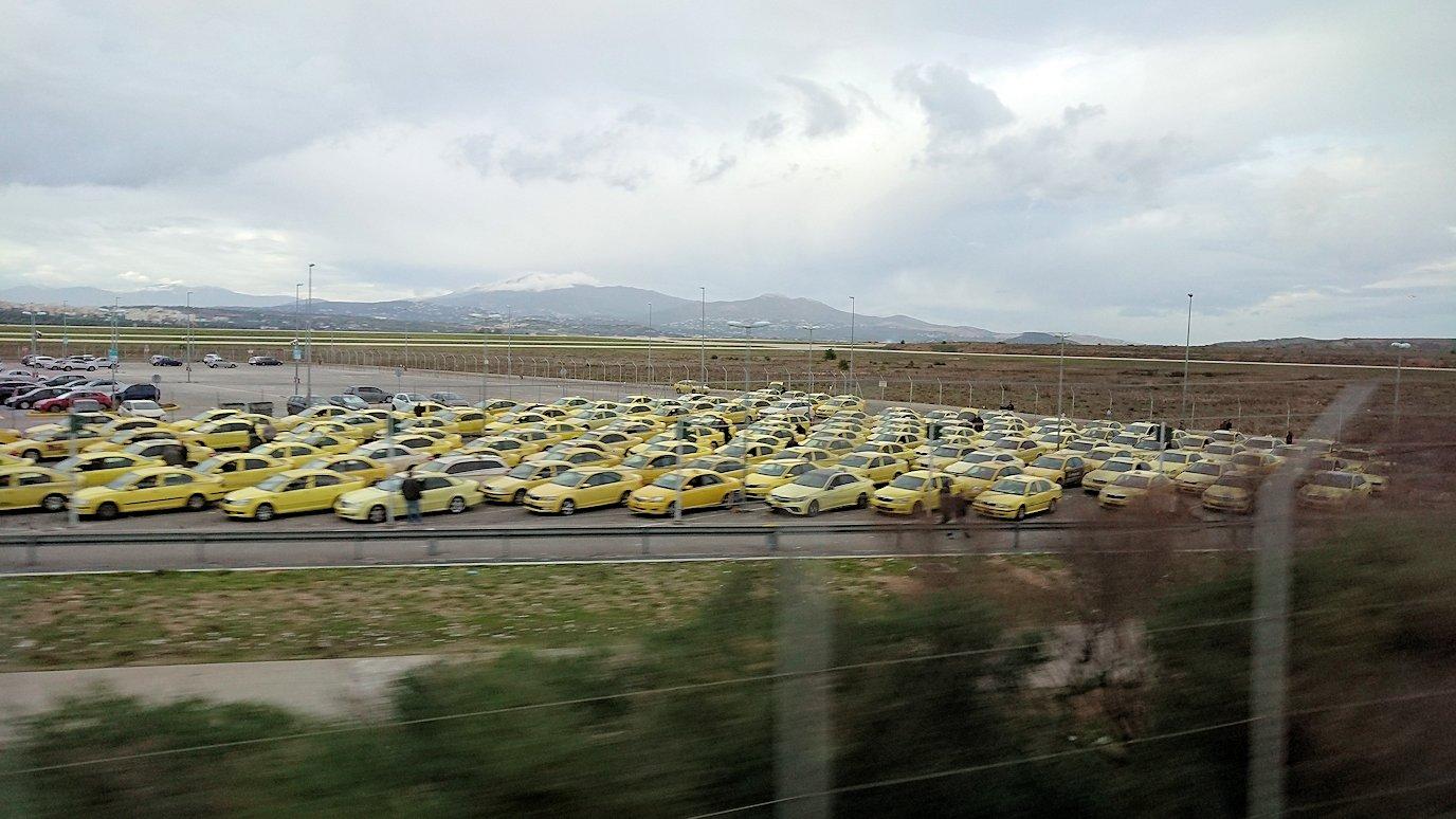 アテネ空港からバスに乗って移動3