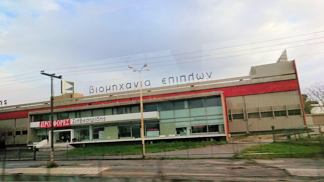 アテネ空港からバスに乗って移動する途中の風景5
