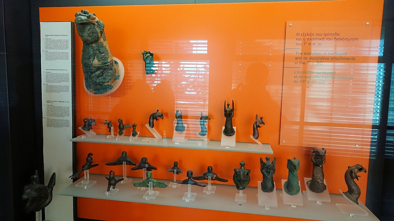 デルフィ遺跡の博物館内の展示品4