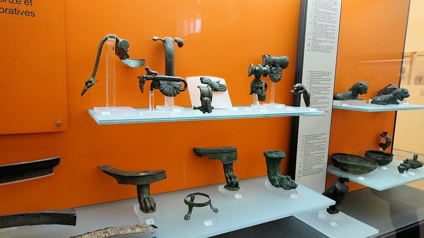 デルフィ遺跡の博物館内の模型4デルフィ遺跡の博物館内の遺物