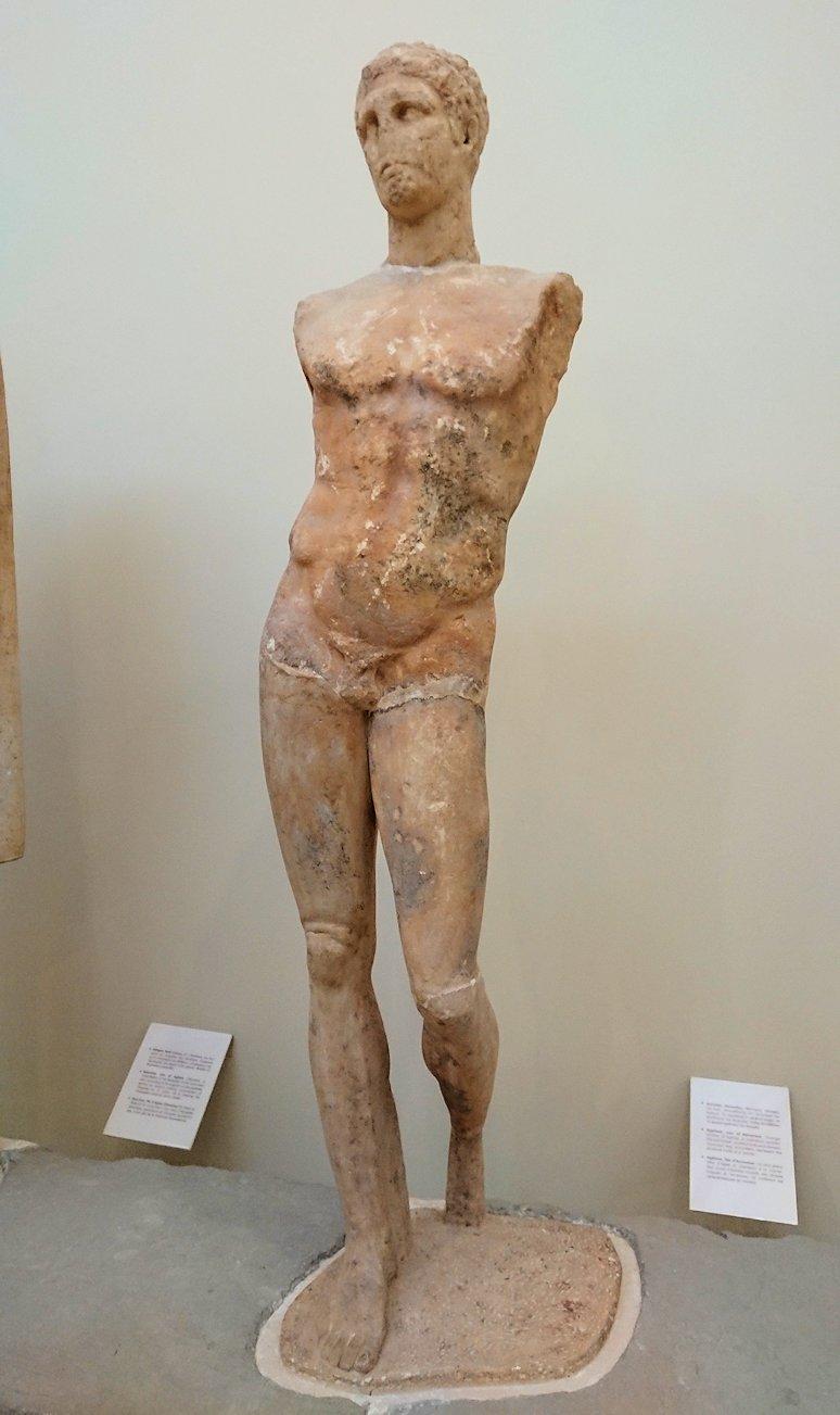 デルフィ遺跡の博物館内の模型4デルフィ遺跡の博物館内の色んな像4