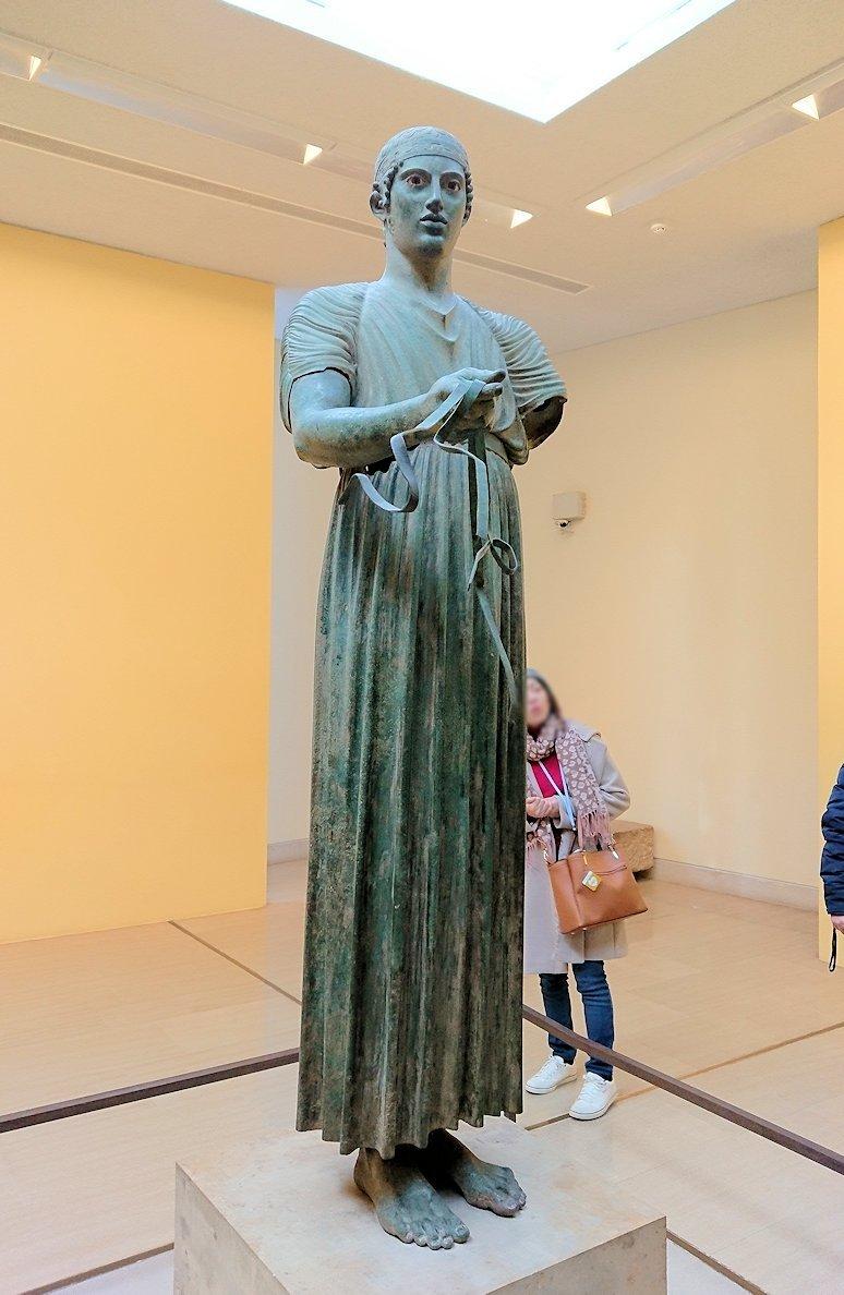 デルフィ遺跡の博物館内の模型4デルフィ遺跡の博物館内でデルフィの御者像
