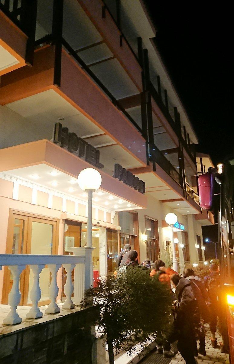 メテオラ地方のホテルに到着2