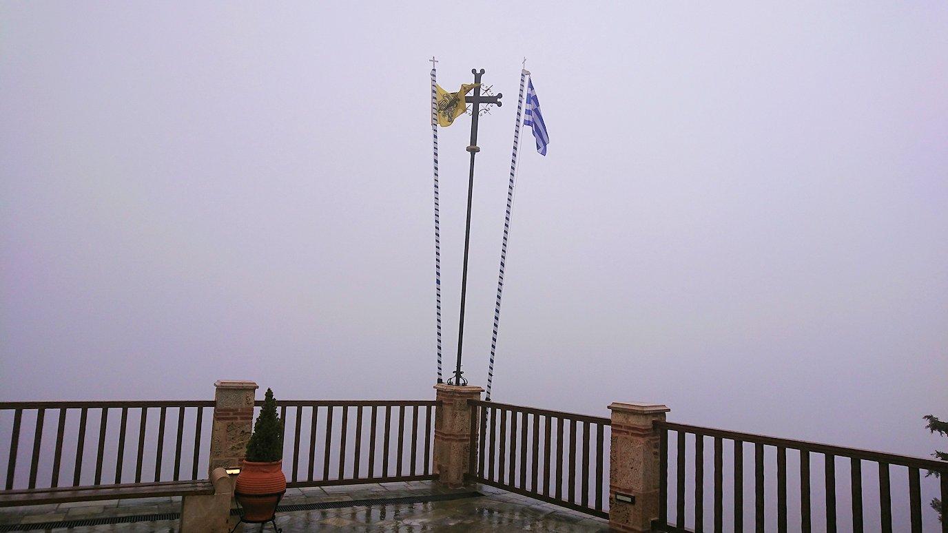 メテオラ地方のアギオス・ニコラオス修道院の見学終了
