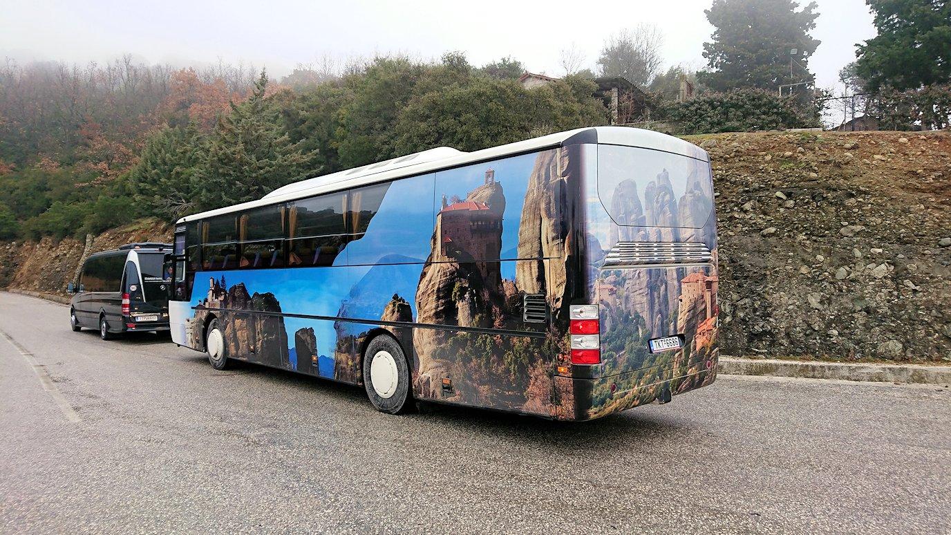 メテオラ地方で見たバスの車体2