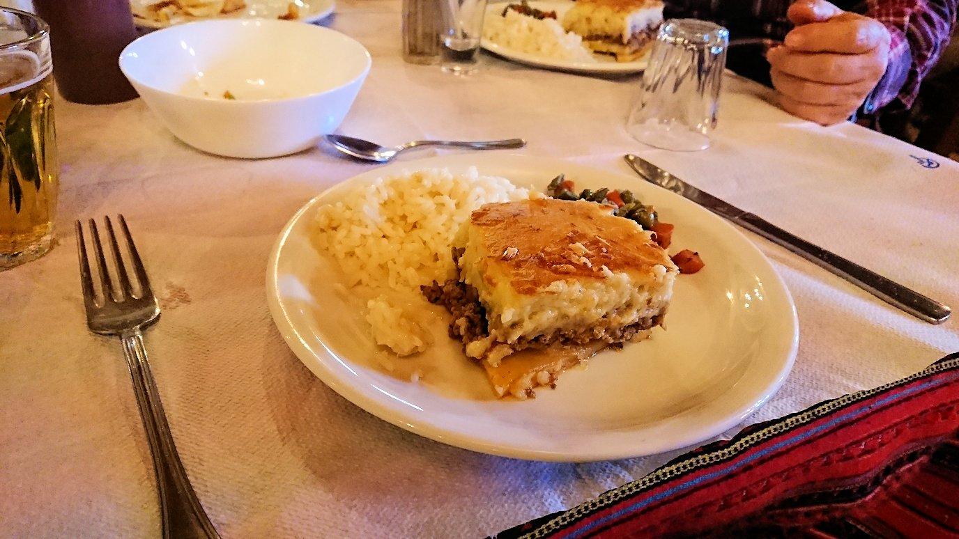 メテオラ観光後に食べた昼食のメイン料理の様子2
