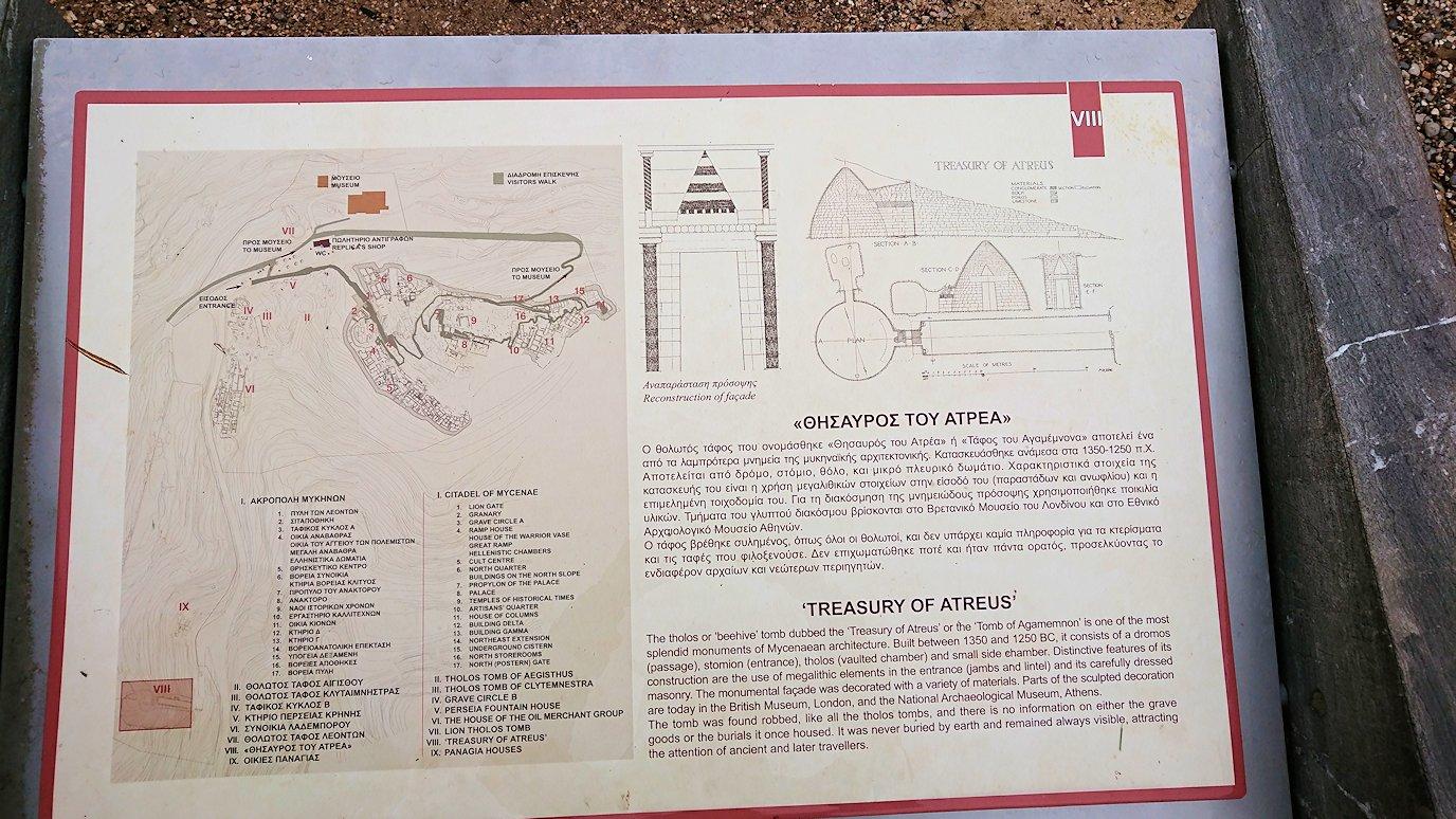 ミケーネ遺跡の宝物庫の見学3