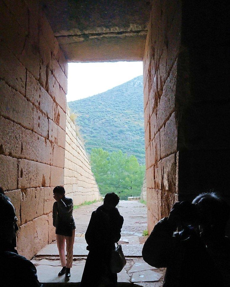 ミケーネ遺跡のアトレウスの宝庫の内側の様子5