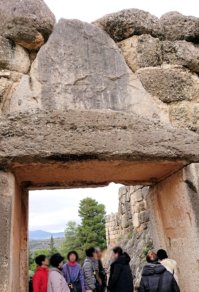 ミケーネ遺跡のライオンゲートのアップ写真5