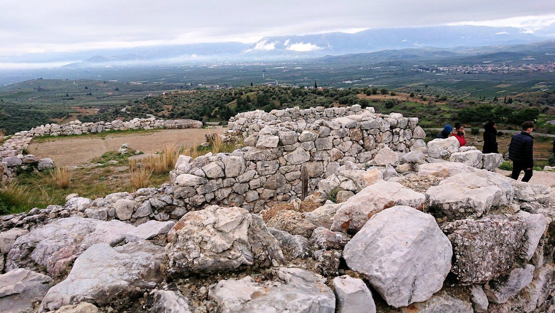 ミケーネ遺跡の宮殿跡を見学4