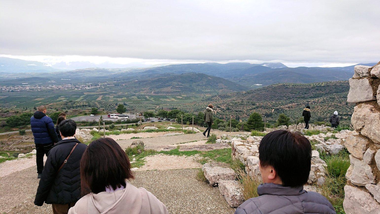 ミケーネ遺跡の宮殿跡を見学5