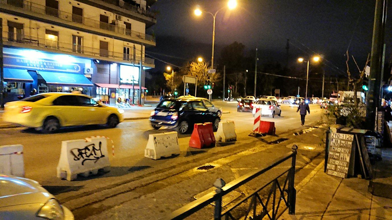 夜のアテネでホテル周辺を歩いてみる3