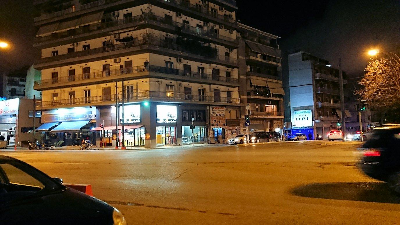 夜のアテネでホテル周辺を歩いてみる4