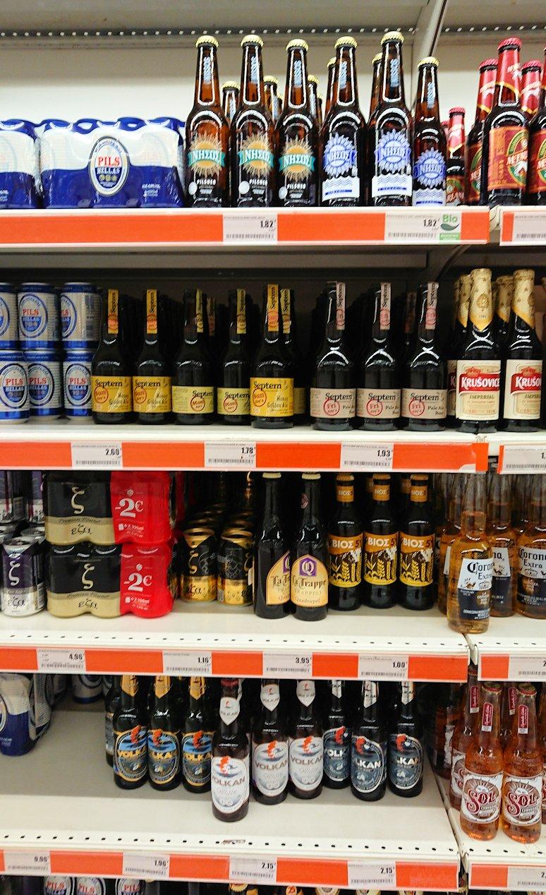 アテネのオスカーホテルの前のスーパーマーケットで売っていたビール