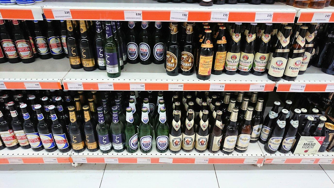 アテネのオスカーホテルの前のスーパーマーケットで売っていたビール2
