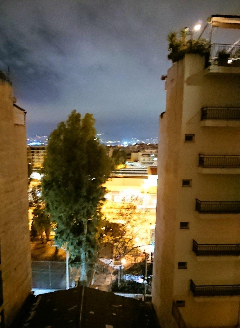 アテネのオスカーホテルの部屋からの眺め