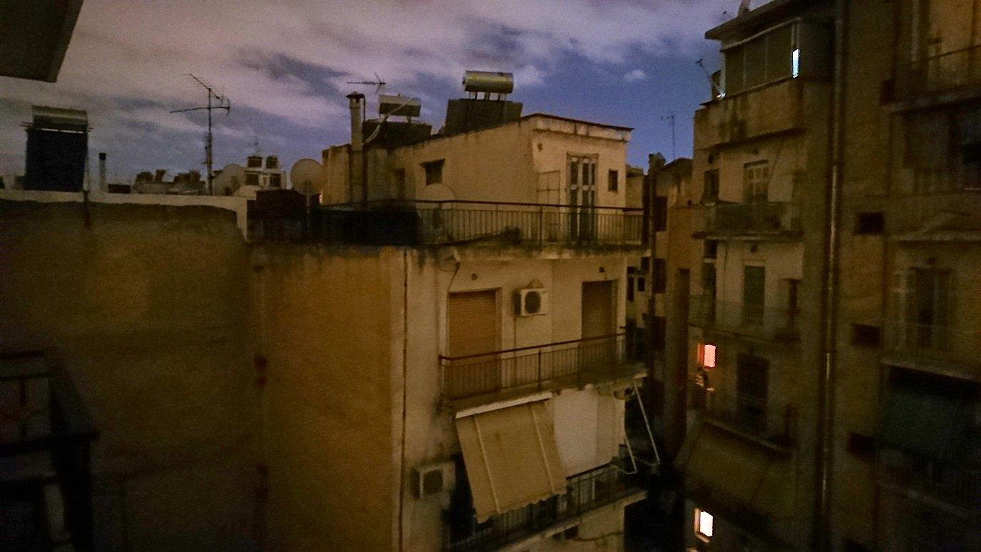 アテネのオスカーホテルの部屋からの眺め2