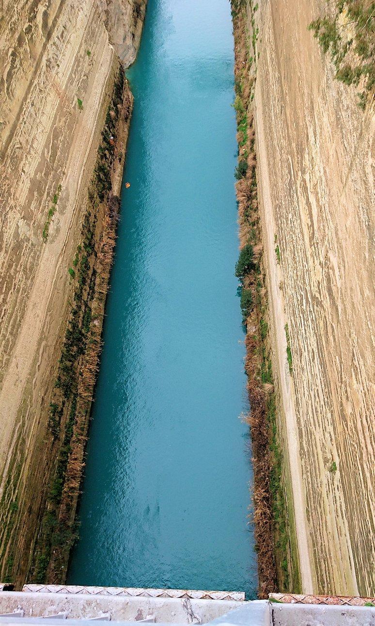 ギリシャのコリントス運河の眺め4