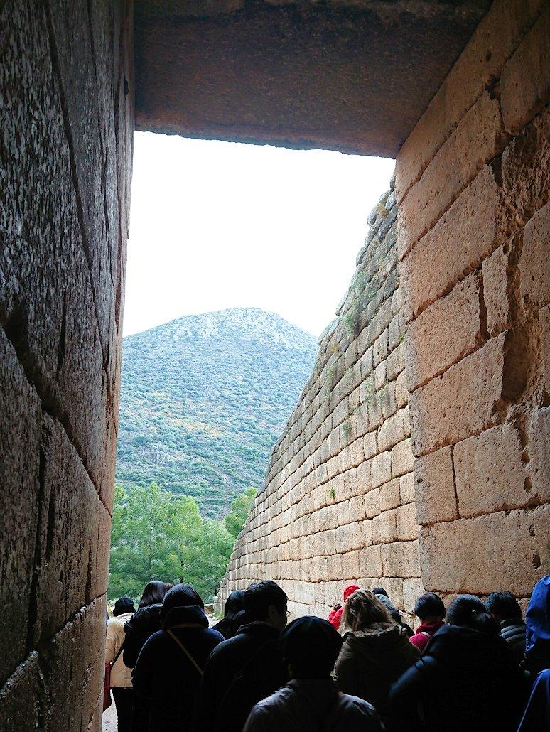 ミケーネ遺跡のアトレウスの宝庫の内側3