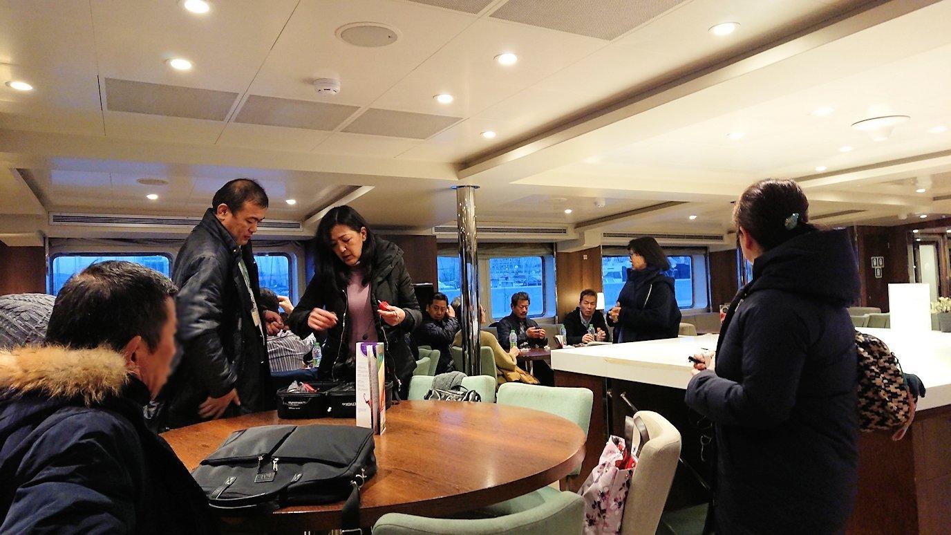 エーゲ海クルーズ船に乗り込み、船内の様子3