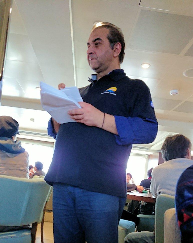 エーゲ海クルーズ船内で写真の販売