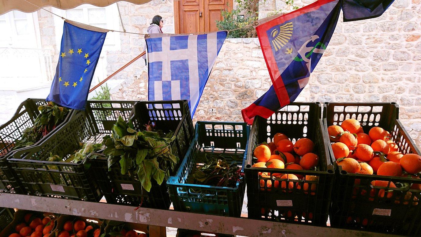エーゲ海のイドラ島のオシャレな街で売っていた果物2