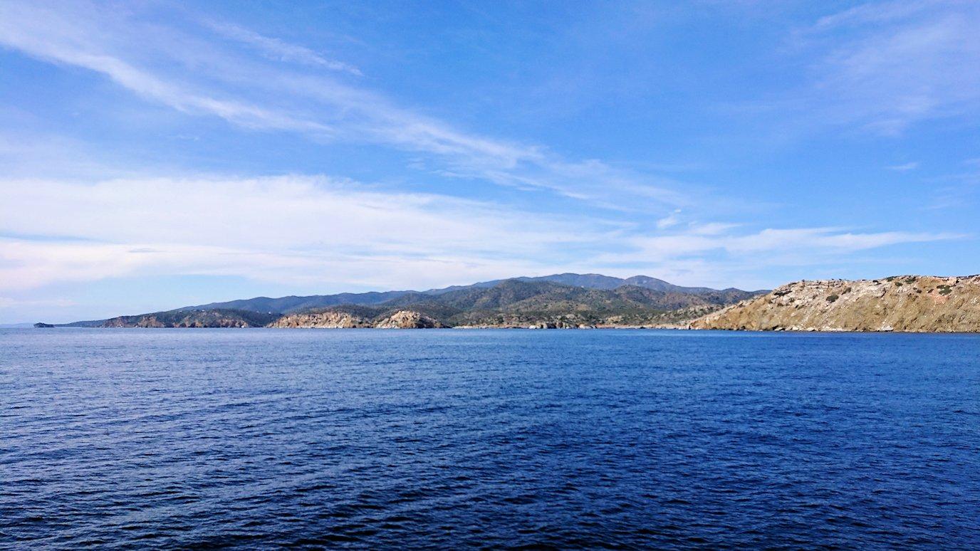エーゲ海クルーズ船のデッキから見える景色3