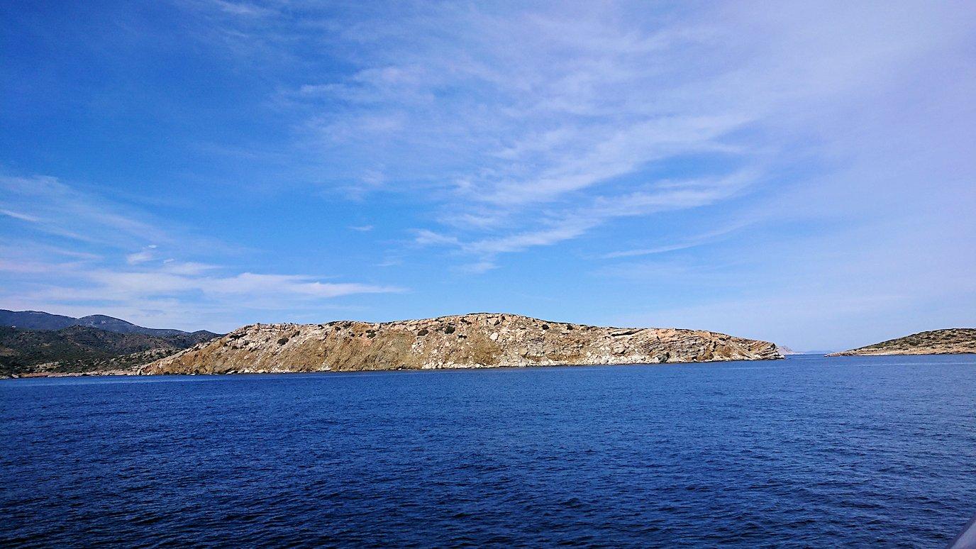 エーゲ海クルーズ船のデッキから見える景色4