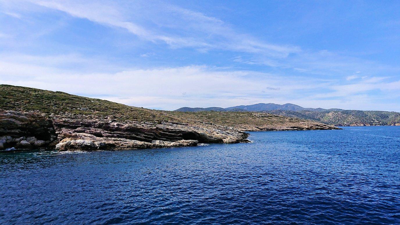 エーゲ海クルーズ船のデッキの景色