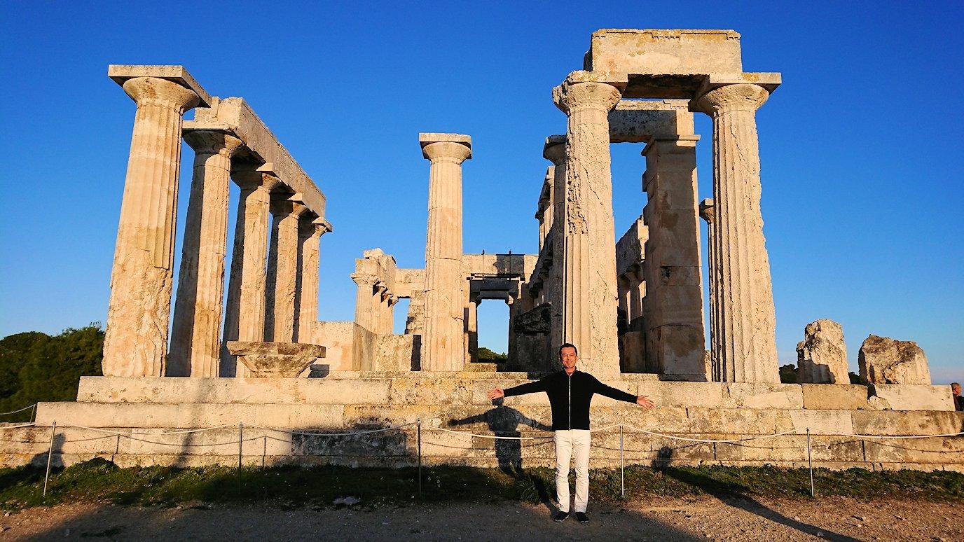 エギナ島のアフェア神殿を間近で見学2