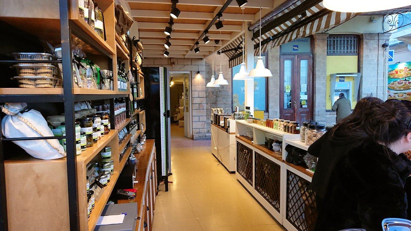 エギナ島のピスタチオの店を見学9