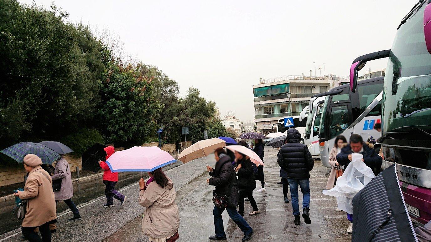 アテネ市内をバスで移動する5
