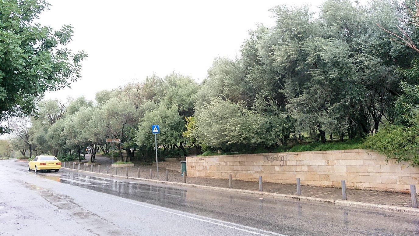 アテネ市内のパルテノン神殿近くに到着